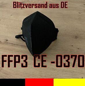 FFP3 Maske schwarz Mundschutz Ventil &ohne Atemschutzmaske 99% 5-lagig CE ✅ 🇩🇪