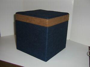 UNIQUE HANDMADE DENIM NESTING BOXES - SET OF 3 - 7 INCHES X 7 INCHES