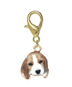 Beagle Puppy Dog Basset Hound Pet Animal Lobster Claw Clip On Charm for Bracelet
