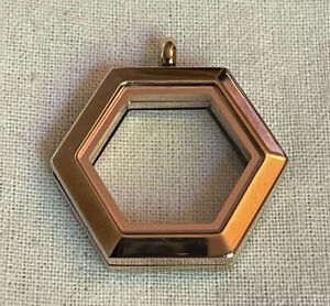 Origami Owl ROSE GOLD HEXAGON CLASSIC HINGED LIVING LOCKET April 2017 Exclusive