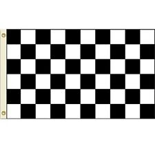 3x5 Advertising Checkered Checker Black White flag 3'x5' banner fade resistant