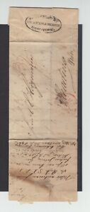 Transatlantikpost, Bremen-Reading (PA) 1834 'BY FORWARDED AGENT' Attest 'LINDEN'
