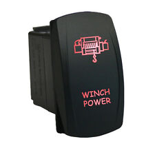 Rocker switch 651R 12V WINCH POWER Laser LED red 20amp 4WD