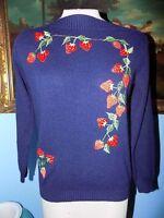 Vintage  Strawberry Sweater-L