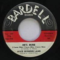 Hear! Northern Soul Girl Group 45 Alice Wonder Land - He'S Mine (I Love Him, I L
