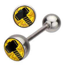 Marvel Thor 14G Stainless Steel Barbell Ring