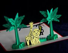Jungle, Animals, Safari Card, Any Occasion, High Quality, 3D, Pop-up Card