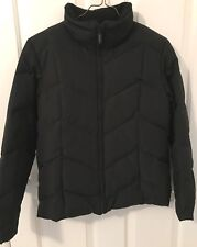 NEW YORK & CO Womens Black Down Fill Coat with hood-Size Small-EUC