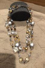 Lia Sophia 3 Layer Neclace Gold/Silver Tones