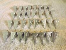 32-1oz Pyramid Sinkers.  FREE SHIPPING