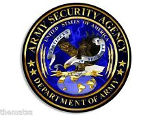 "ARMY SECURITY AGENCY  ASA 4"" BUMPER STICKER DECAL MADE IN USA"