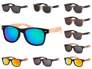 Nerd-Brille Holz-Optik Holzlook Sonnenbrille Wood Hornbrille Holz-Design NEU