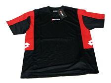 Lotto Shirt Polo Contest Black schwarz rot kurzarm Größe XL