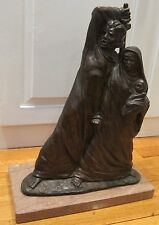 "BRONZE SCULPTURE SIR LASZLO ISPANKY 1919-2010 ""EXODUS"" NUMBER 36/100 1975 HEAVY"
