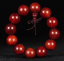 20mm Red Big Tibet Chinese Buddhist Wood Monk Mala Bracelet Prayer Kungfu Bead