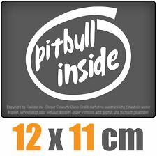 Pitbull inside csf0463 12 x 11 cm JDM Decal Sticker Aufkleber Racing Die Cut