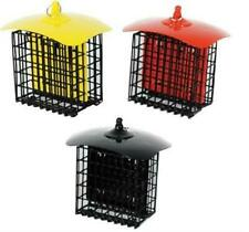 Metal Double Suet Holder Feeder in Red, Yellow or Black WLNA19643