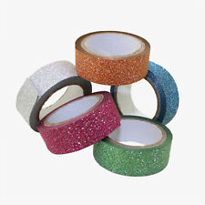 Glitter Decorative Self Adhesive Masking Washi Tape Sticky Paper Sticker Set