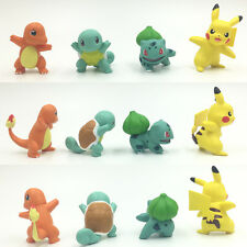 4PCS/LOT POKEMON GO action figure toys Pikachu Squirtle Charmander Bulbasaur