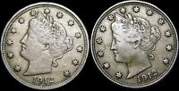 1912 1912-D Liberty V Nickel US Lot  ----  Nice Lot  ----  #H606