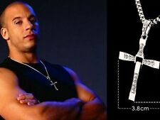 The Fast And Furious Vin Diesel Dominic Toretto's Cross Crystal Pendant Necklace