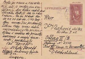 1941 Hungary #P110 w German censor on card to German Military address *d