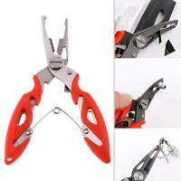 Stainless Steel Fishing Pliers Scissors Line Cutter Remove Hook Grip Tackle Tool