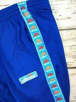 Mens Vintage Retro Ellesse Shiny Tracksuit Bottoms Trousers Side Stripe Baggy 32