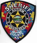"""MIAMI  County SHERIFF  Kansas Police Patch Polizei Abzeichen USA  """"Autism Aware"""""""