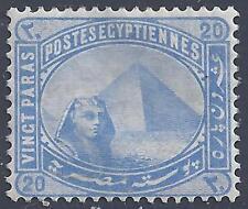 EGYPT 1879 SG 46a 20 PARAS INVERTED WMK PEN MARK ON GUM SEE SCANS