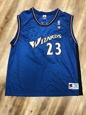 MICHAEL JORDAN WASHINGTON WIZARDS CHAMPION NBA BASKETBALL JERSEY 44 LARGE