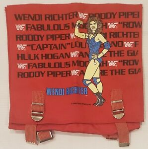 Vintage 1985 Titan Sports Wendi Richter WWF WWE Wrestling Backpack Bag RARE