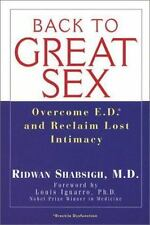 Back To Great Sex: Overcome Ed and Reclaim Lost Intimacy