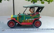 VNTG.RETRO CAR 1910 JALOPY MYSTERY ACTION TIN TOY BATTERY OPERATED 1960's JAPAN