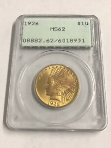 1926 Indian Head Gold $10 Eagle PCGS MS62