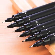 PRO 6pcs Micron Fine Line Pen 005 01 02 03 05 08 BRUSH Art Supplies Tools Nice