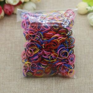 1000Pcs Rubber Hair Tie Band Small Elastic Ponytail Holder Ties Ropes Women