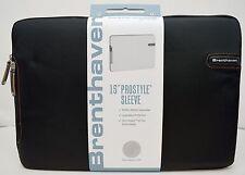 "NEW Brenthaven 2100 15.4"" Prostyle II Zero Impact Fur BLACK Macbook Sleeve Case"