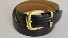 "MARK SHALE Lizard Belt 30""-33"" 1"" Wide Black"