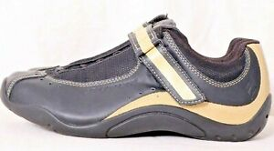 Specialized Sonoma Black/Beige Leather Lace-Up Strap Cycling Shoe Women's US 8.5