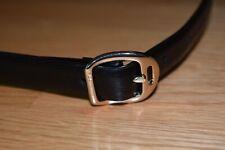 Womens Ralph Lauren Leather Belt Black Equestrian Horse Stirrup Buckle L