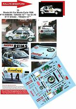 DECALS 1/43 REF13 SKODA FELICIA KIT CAR TRINER RALLYE MONTE CARLO 1996 RALLY WRC