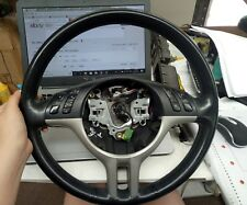 BMW E53 X5 2003 MODEL STEERING WHEEL BLACK LEATHER NO AIRBAG GENUINE 01- 06
