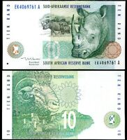 SOUTH AFRICA 10 RAND ND 1999 P 123 b UNC