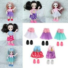 16cm Girl Doll Mini Clothes Shoes Doll Outfits Clothing Girl's Gifts D