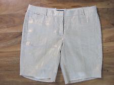 J.Crew Metallic Foil Tailored Linen Shorts -Ivory Bronze -Size 8 - NWT $89