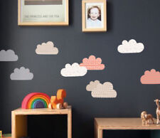 Pattern Orange Cloud (Set of 9) Wall Sticker Nursery Kids Home  MS272PC