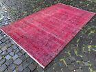 Overdyed, Turkish rug, Vintage rug, Handmade rug, Large, Wool | 5,2 x 8,6 ft