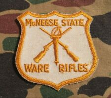 Vintage McNeese State Ware Rifles Patch Louisiana