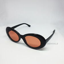 Kurt Cobain clout goggles oval sunglasses - Black/Orange